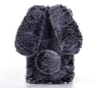Coque en fourrure véritable lapin pour iPhone 8 8plus iphone x 2
