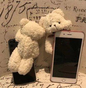 Mignon Coque iPhone x iPhone 8 iPhone 8plus pouce 3D Ours en Peluche
