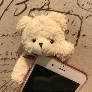 Mignon Coque iPhone x iPhone 8 iPhone 8plus pouce  3D Ours en Peluche 3